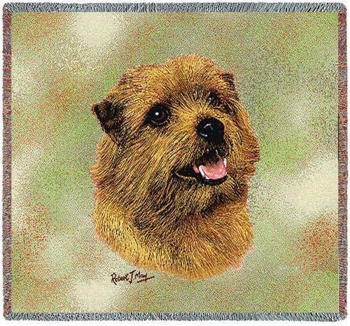 Lap Square Blanket - Norfolk Terrier by Robert May 6366 IN STOCK