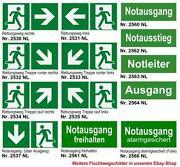 Fluchtweg Schild
