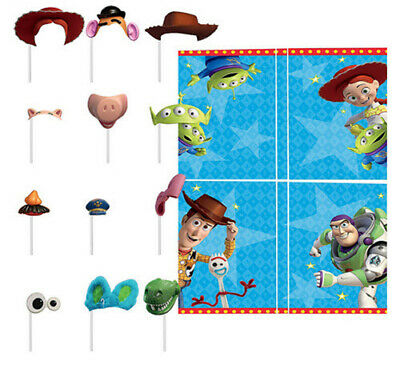TOY STORY 4 Scene Setter Birthday Party backdrop w/12 photo booth props FORKY - Photo Booth Background