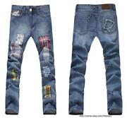 Mens Plaid Jeans