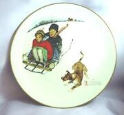 Norman Rockwell 4 Seasons Plates