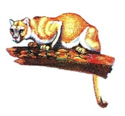 Embroidered Fleece Jacket - Cougar Mountain Lion BT4137 Sizes S - XXL