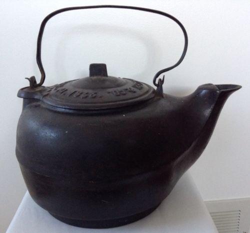 Antique cast iron tea kettle ebay