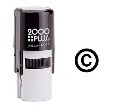 Copyright Symbol Self Inking Rubber Stamp - Black Ink E-6274
