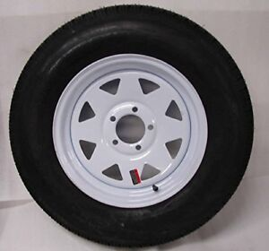 Radial Trailer Tire-ST175/80R13 with White 5 Bolt Rim--New Stock