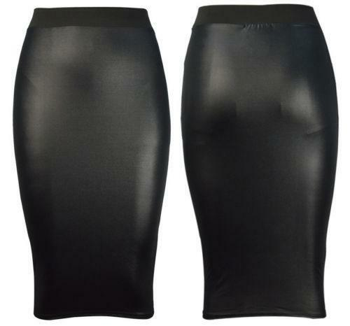 Leather MIDI Skirt | eBay