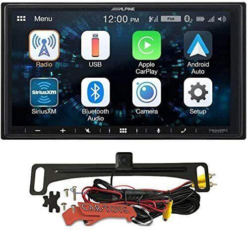 "Alpine iLX-W650 7"" Receiver and Backup Camera Kit. Apple CarPlay, Android Auto"