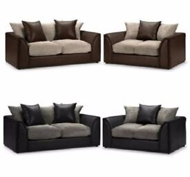 Same Day Delivery Aruba 3 and 2 Fabric Sofa Set or Corner Unit - DELIVERED SAME DAY!