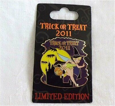 HTF LE Disney pin Halloween Trick or Treat Tinker Bell as Witch Mickey Pumpkin - Tinkerbell Halloween Pumpkin