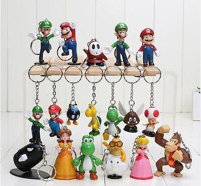 Restocked !!! (NEW) SUPER MARIO Keychain  Mario Luigi Peach Yoshi Donkey
