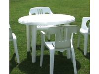 Chairs and tables to rent