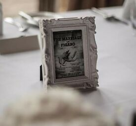 Ornate Photo Frames x9 - Ideal for Wedding Tables