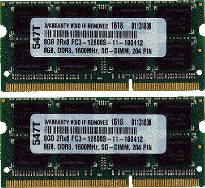 16GB (2X8GB) DDR3 1600MHz MEMORY RAM FOR Late 2012 Apple Mac mini