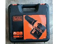 Battery drill black+decker