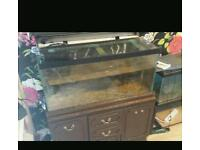 3 foot fish tank with cabinet for swaps
