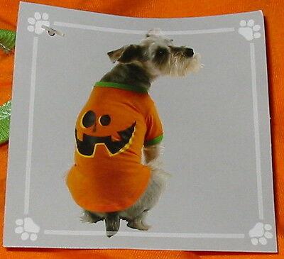 Dog Tee Shirt Halloween Small size Pumpkin Face Super Deal Celebrate it 34D (Halloween Dog Face)