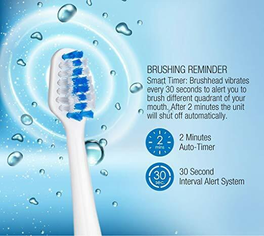 Pursonic S420 High Power Rechargeable Sonic Toothbrush with