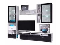 High gloss wall unit (TV unit, cabinets, shelf)