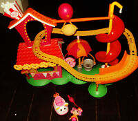 MINI LALALOOPSY SILLY FUNHOUSE PARK PLAYSET ROLLER COASTER
