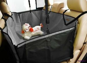 Car-Auto-Pet-Dog-Cat-Gray-3D-Waterproof-Hammock-Seat-Cover-Protector-Blanket