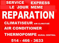 REPARATION AIR CLIMATISE CLIMATISEUR CONDITIONER AC THERMOPOMPE