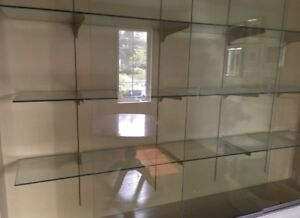 FREE glass doors and shelves for display cabinet