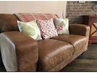 Stunning 2 seater sofa tan leather