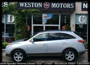 2008 Hyundai Veracruz LIMITED* GLS* AWD* 7 PASS* SUNROOF* LEATHE