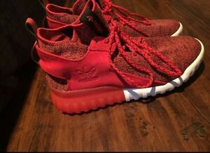red suede adidas tubulars
