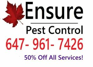 ROACH? BED BUGS? PESTS?  #1 PEST CONTROL+ 50% OFF ALL SERVICES