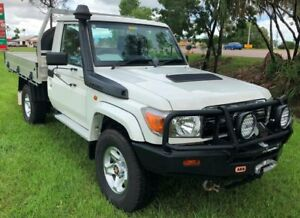 2013 Toyota Landcruiser VDJ79R MY13 GXL White 5 Speed Manual Cab Chassis Berrimah Darwin City Preview