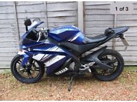 YAMAHA YZF R-125 BREAKING FOR PARTS 2011