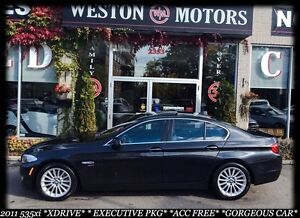 2011 BMW 5 Series 535IX*EXECUTIVE PKG*NAVI*SUNROOF*100% APPROVED