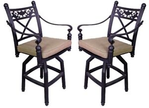 2 High Top Patio Bar Stools