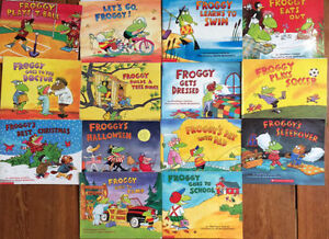 FROGGY picture books by Jonathon London $2 each or 14 for $25