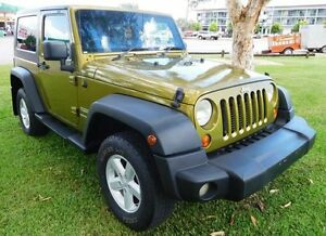 2007 Jeep Wrangler JK Sport Green 6 Speed Manual Softtop Hidden Valley Darwin City Preview