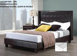 QUEEN LEATHER BEDS ON SPECIAL REDUCED PRICE (IF60)