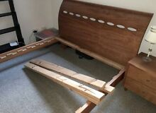 QUEEN bed frame and matching side tables Taringa Brisbane South West Preview