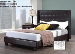 CLASSY LEATHER BEDS ON REDUCED PRICES (IF59)