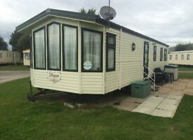 Caravan for hire at Presthaven beach resort North Wales