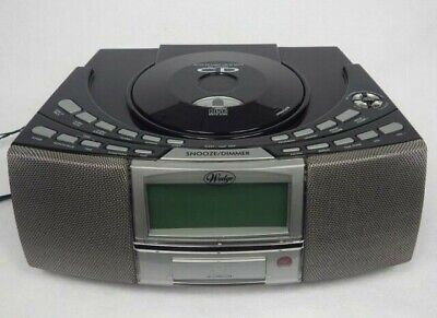REFURBISHED Wedge AM/FM CD Player USB SD Card Clock Radio Alarm Great Condition