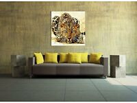 Stunning leopard high quality canvas - glows in the dark