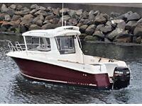jeanneau merry fisher marlin 6 ( 22ft boat / fishing boat )