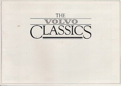 Volvo Classics Competition 1985 UK Market Brochure 300-Series 700-Estates 1800S