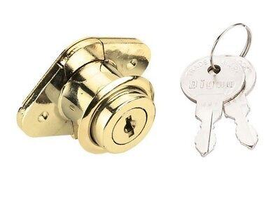 2 Pack 78 Keyed Alike Locks Keys Desk Drawer Mailbox Office Cabinet Brass