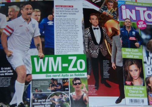 Robbie Williams 37 pc German Clippings Full Pages
