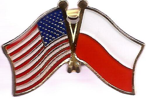 LOT OF 12 Poland Friendship Flag Lapel Pins - Polish Crossed Flag Pin