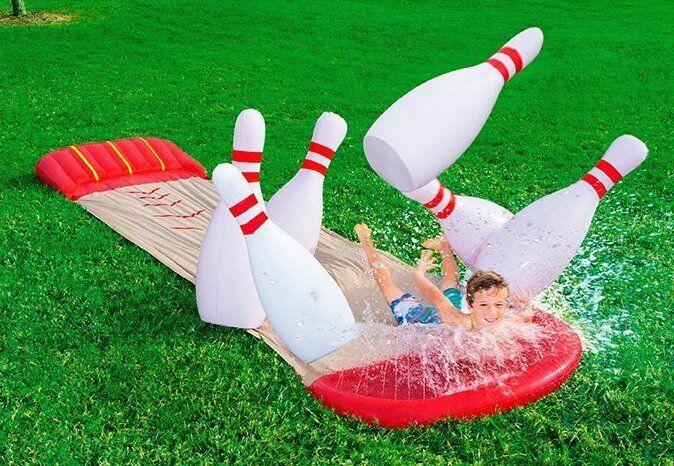 Bestway Bowling-Wasserrutsche Slide-n-Splash Fun Garten-Rutschbahn NEUWARE