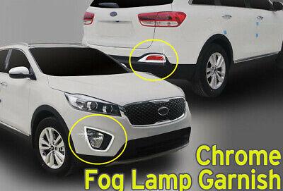Fog Light Lamp Cover Garnish Chrome Molding 4Pcs C866 for Kia Sorento 2016~2020