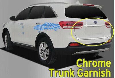 Chrome Rear Trunk Garnish Molding Cover Silver C784 for Kia Sorento 2016~2020